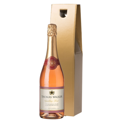 Any Occasion Sparkling Rosé Wine in a Gold or Silk Lined Gift Box