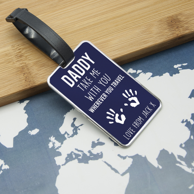 Daddy Take Me With You Luggage Tag - AzanatekSaver