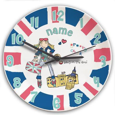 Personalised Bang on the Door London Chick Clock