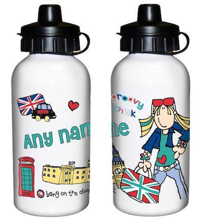 Personalised Bang on the Door London Chick Drinks Bottle - AzanatekSaver