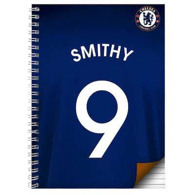 Personalised Chelsea A5 Notebook - AzanatekSaver