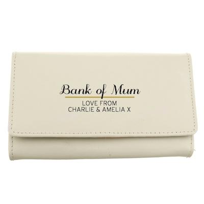 Personalised Classic Cream Leather Purse - AzanatekSaver