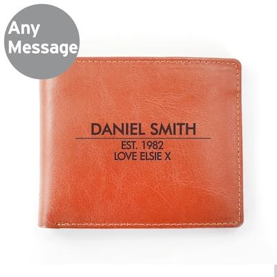 Personalised Classic Tan Leather Wallet - AzanatekSaver