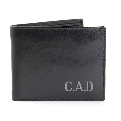 Personalised Initial Wallet Leather