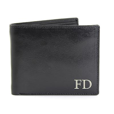 Personalised Initials Leather Wallet
