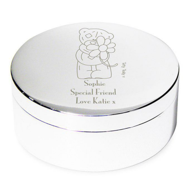 Personalised Me to You Flower Round Trinket Box - AzanatekSaver