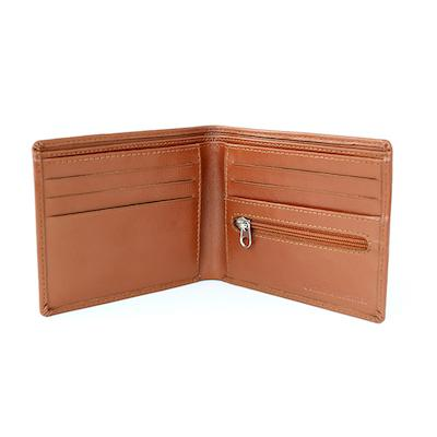 Personalised Message Tan Leather Wallet - AzanatekSaver