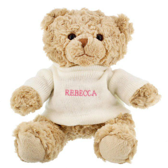 Personalised Pink Name Only Teddy Bear - AzanatekSaver