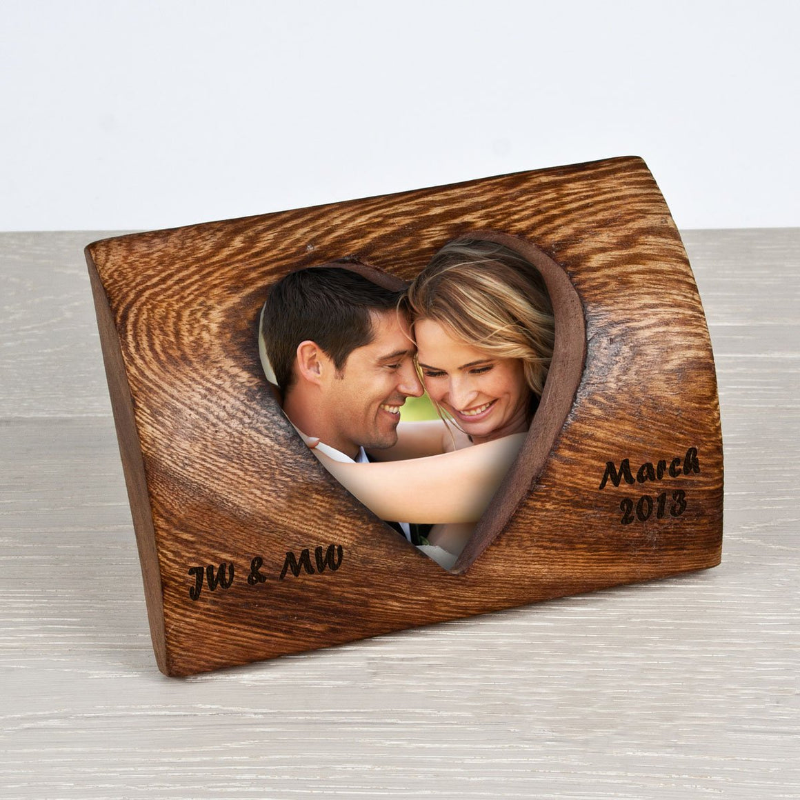 Personalised Rounded Heart Photo Frame - AzanatekSaver