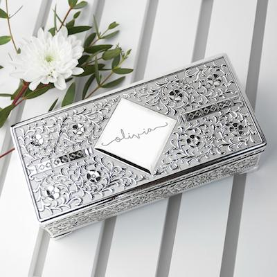Personalised Silver Trinket Box - AzanatekSaver