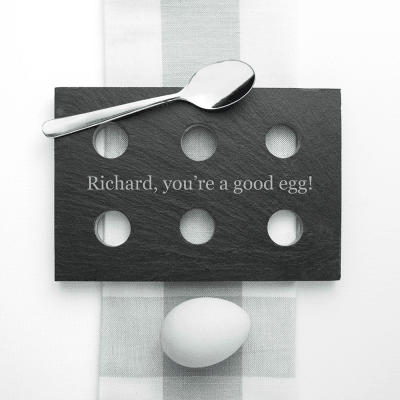 Personalised Slate Egg Holder