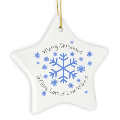 Personalised Snowflake Star Decoration - AzanatekSaver