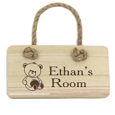 Personalised Teddy Wooden Sign - AzanatekSaver