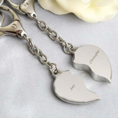 Two Hearts Keyring - AzanatekSaver