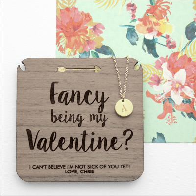 Personalised Will You Be My Valentine Necklace & Keepsake - AzanatekSaver