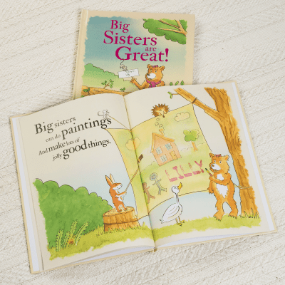 Big Sisters are Great - Hardback or Softback - AzanatekSaver