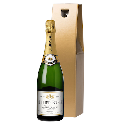 Classic Champagne in a Gold or Silk Lined Gift Box
