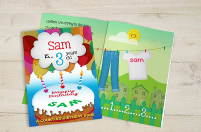 Counting Birthday Book Hardback or Softback - AzanatekSaver