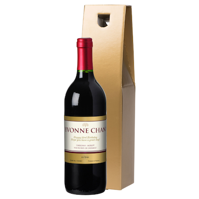French VdP Gold Red Wine in a Gold or Silk-Lined Gift Box
