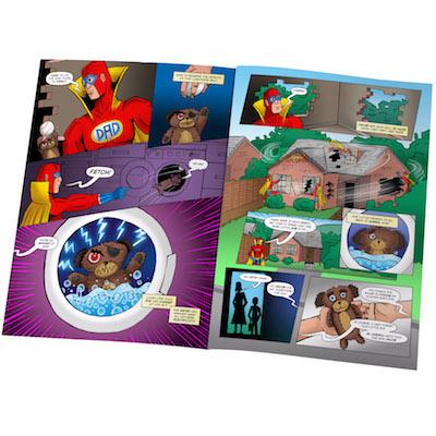 Mega Dad Comic Book Hardback or Softback - AzanatekSaver