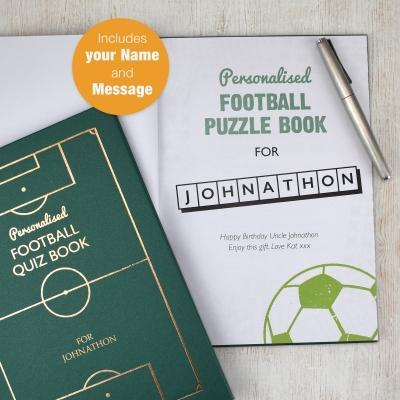 Personalised Football Quiz Book - AzanatekSaver