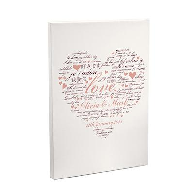 Personalised I Love You Canvas