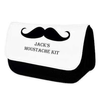 Personalised Moustache Men's Wash Bag - AzanatekSaver