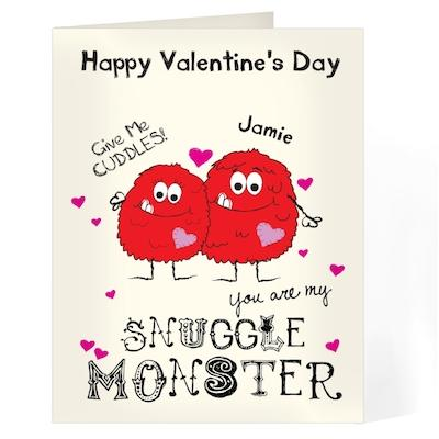 Personalised Snuggle Monster Card - AzanatekSaver