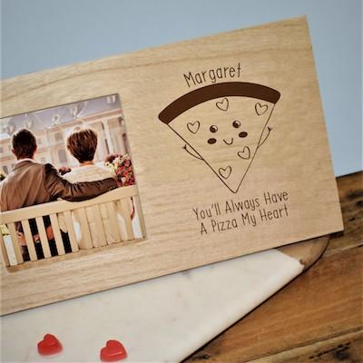 Pizza My Heart Panel Photo Frame - AzanatekSaver