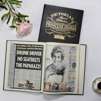 Princess Diana Pictorial Edition Newspaper Book - AzanatekSaver