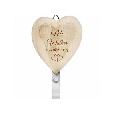 His & Hers Wooden Heart Coat Hooks - AzanatekSaver