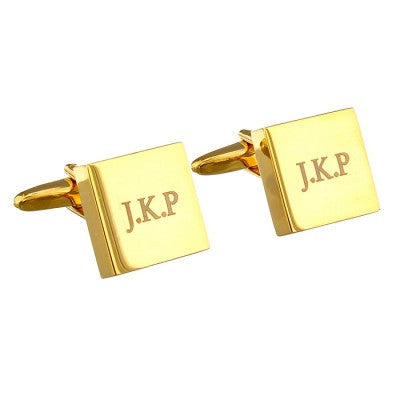 Gold Plated Square Cufflinks - AzanatekSaver