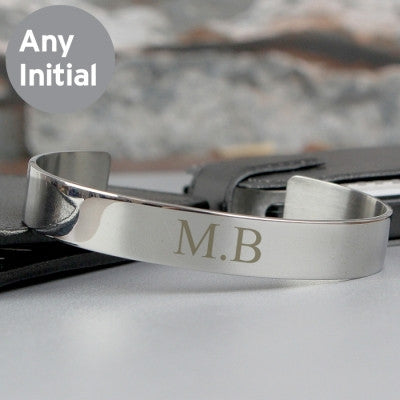 Initial Stainless Steel Bangle - AzanatekSaver