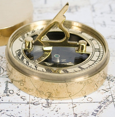Adventurer's Brass Sundial and Compass - AzanatekSaver