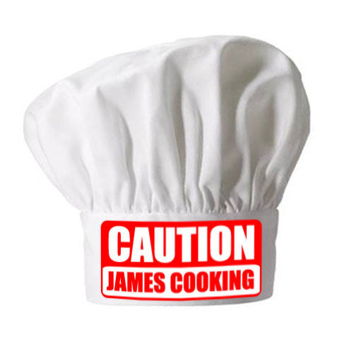 Personalised Caution Chefs Hat - AzanatekSaver