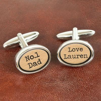 Vintage Style No1 Dad Cufflinks