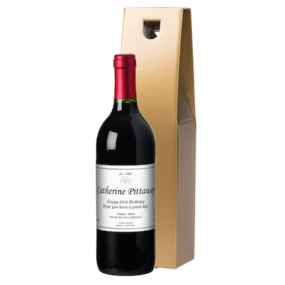 French VdP Classic Red Wine in a Gold or Silk Lined Gift Box - AzanatekSaver