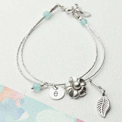 Forget Me Not Friendship Bracelet With Blue Topaz Stones