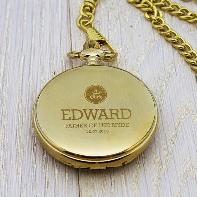 Groomsman Monogram Collection Pocket Watch - AzanatekSaver