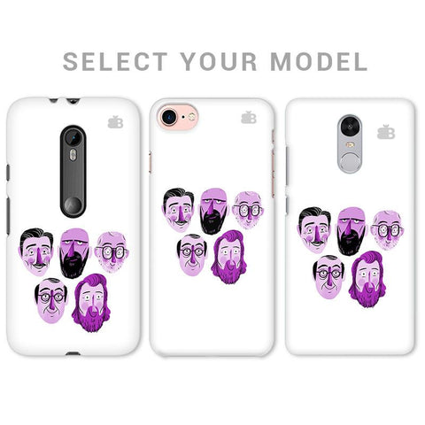 5 Bearded Faces Phone Cover