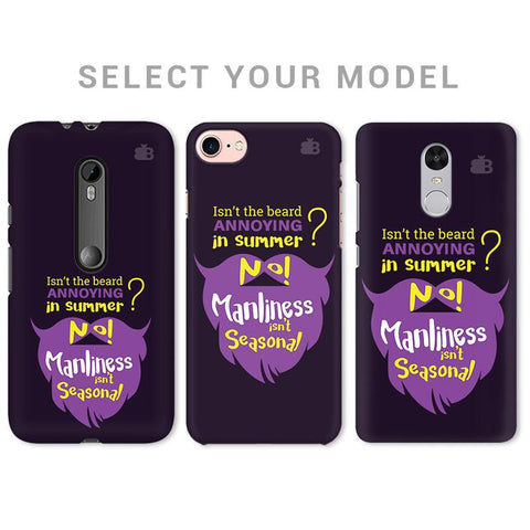 Beard Purple Phone Cover