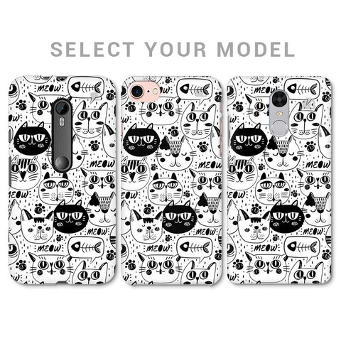 Cute Cats Pattern Phone Cover