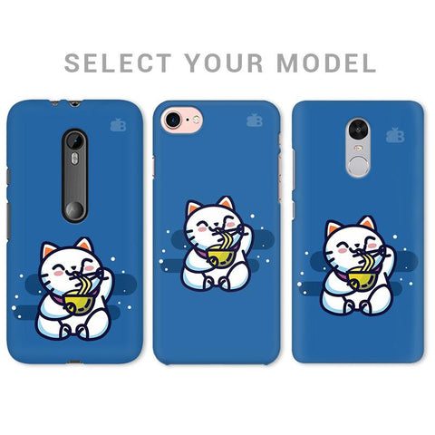 KItty eating Noodles Phone Cover