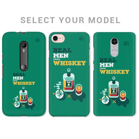 Men and Whiskey Phone Cover