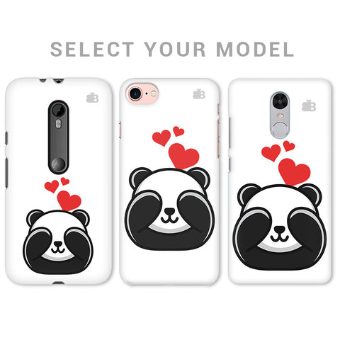 Panda In Love Phone Cover