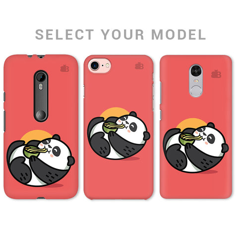 Panda eating Noodles Phone Cover