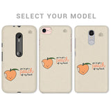 Peach of my heart Phone Cover