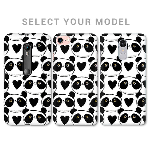 Happy Panda Pattern Phone Cover