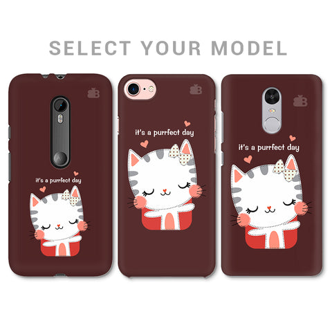Purrfect Day Phone Cover