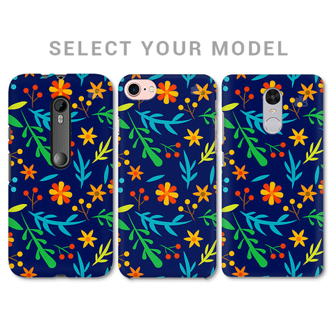 Vibrant Floral Pattern Phone Cover